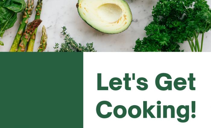 Green and White Minimalist Vegan Food Facebook Post